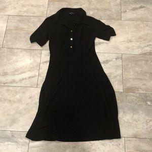 Black Lands' End Collared Dress
